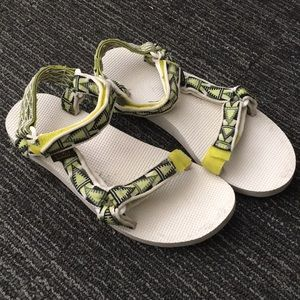 TEVA Sandals white and green